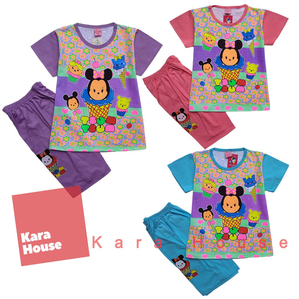 Baju Kaos Atasan T-Shirt Setelan Anak Murah Tsum Tsum TS112017   Shopee Indonesia