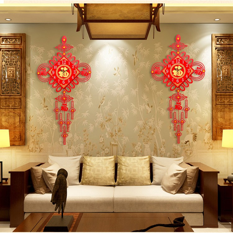 Simpul Cina Jam Dinding Dekorasi Ruang Tamu Jam Yang Modern Minimalis Arloji Baru Cina