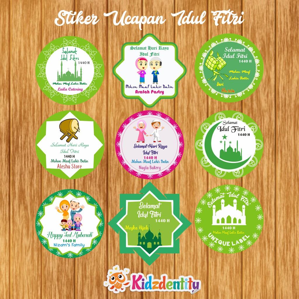 Stiker Label Ucapan Idul Fitri Shopee Indonesia