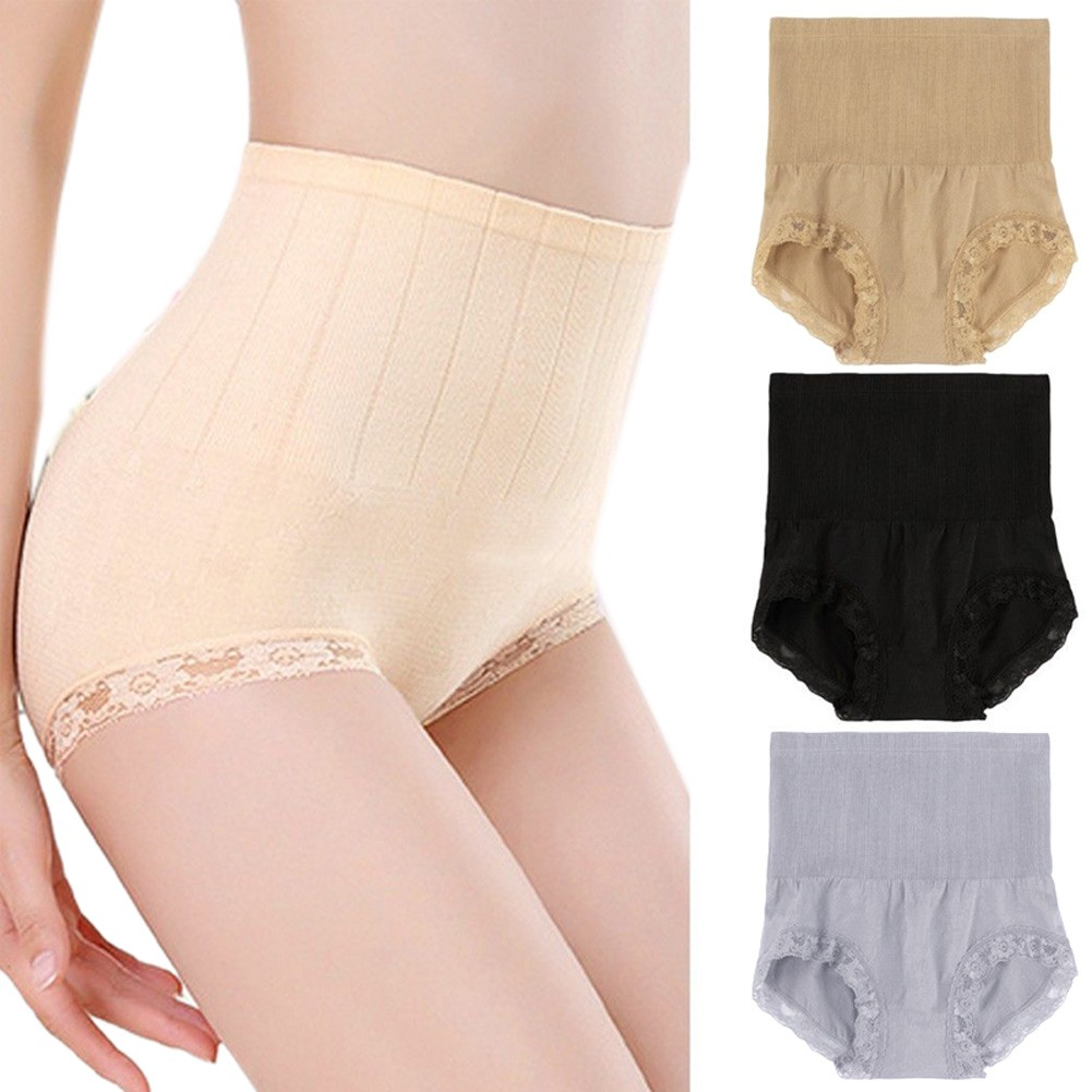 Bayar Di Tempat Celana Dalam Pelangsing Pengontrol Pembentuk Tubuh Model  High Waist untuk Wanita  5341a9bc85