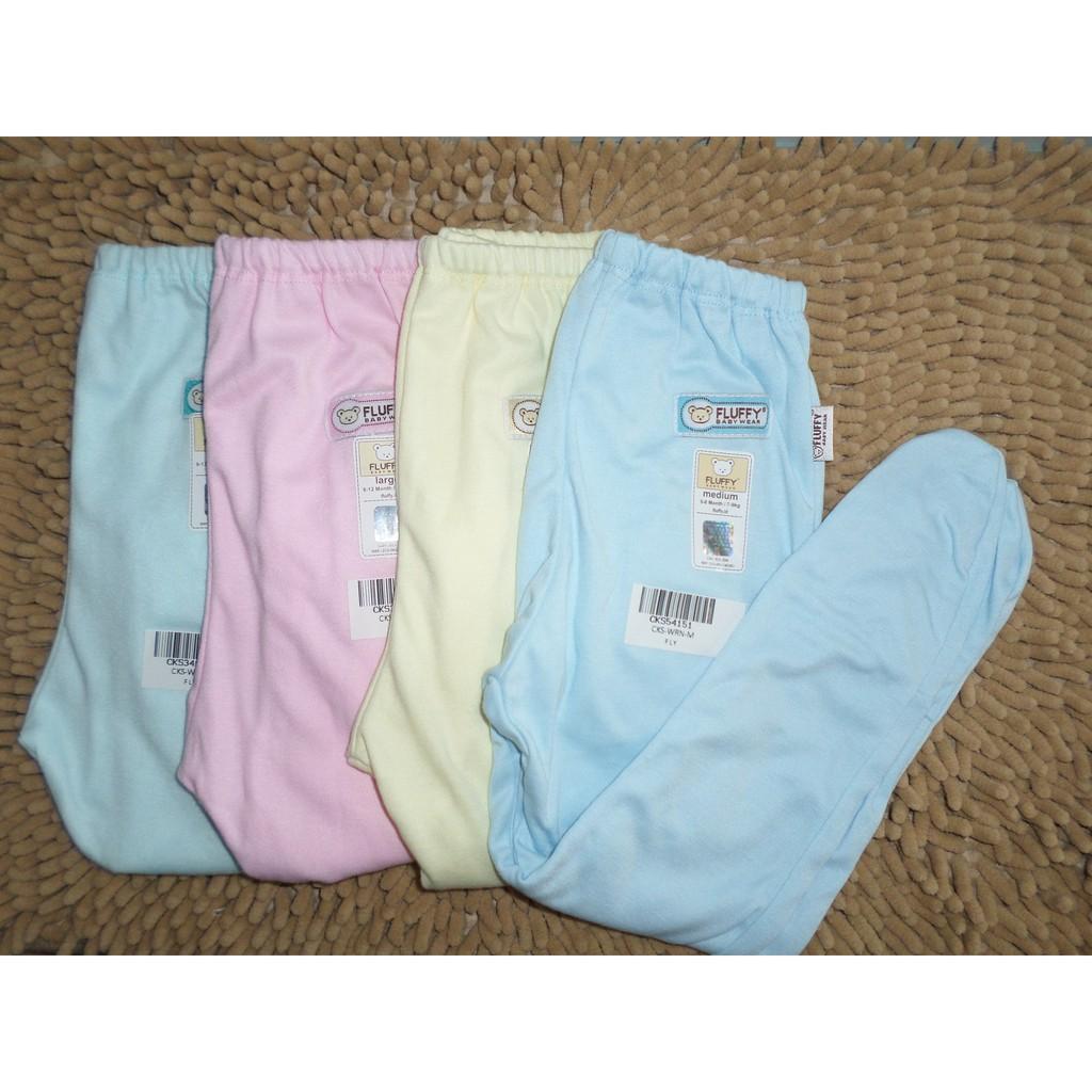 Fluffy Celana Bayi Panjang Rib Polos Warna Medium M Cjsr Wrn Pendek Isi 4pcs Cda Salur Newborn 0 3 Bulan Shopee Indonesia
