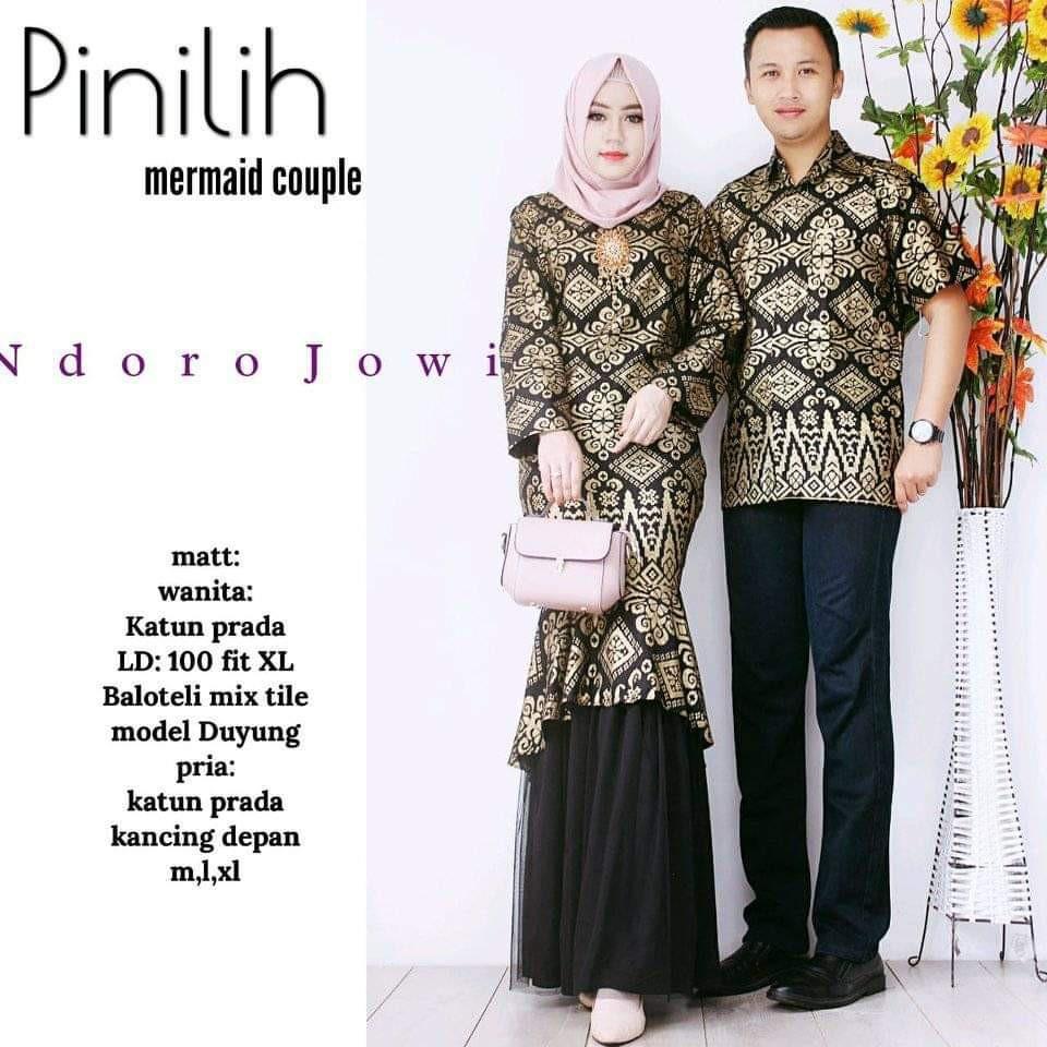 Zola_Batik Batik Couple Gamis Mermaid Pinilih Duyung