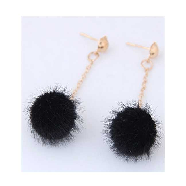 ... Fuzzy Ball Pendant Decorated Pure Color Simple Earrings . Source · Jual LRC Anting Gantung Elegant Tassel Decorated Earrings | Shopee Indonesia