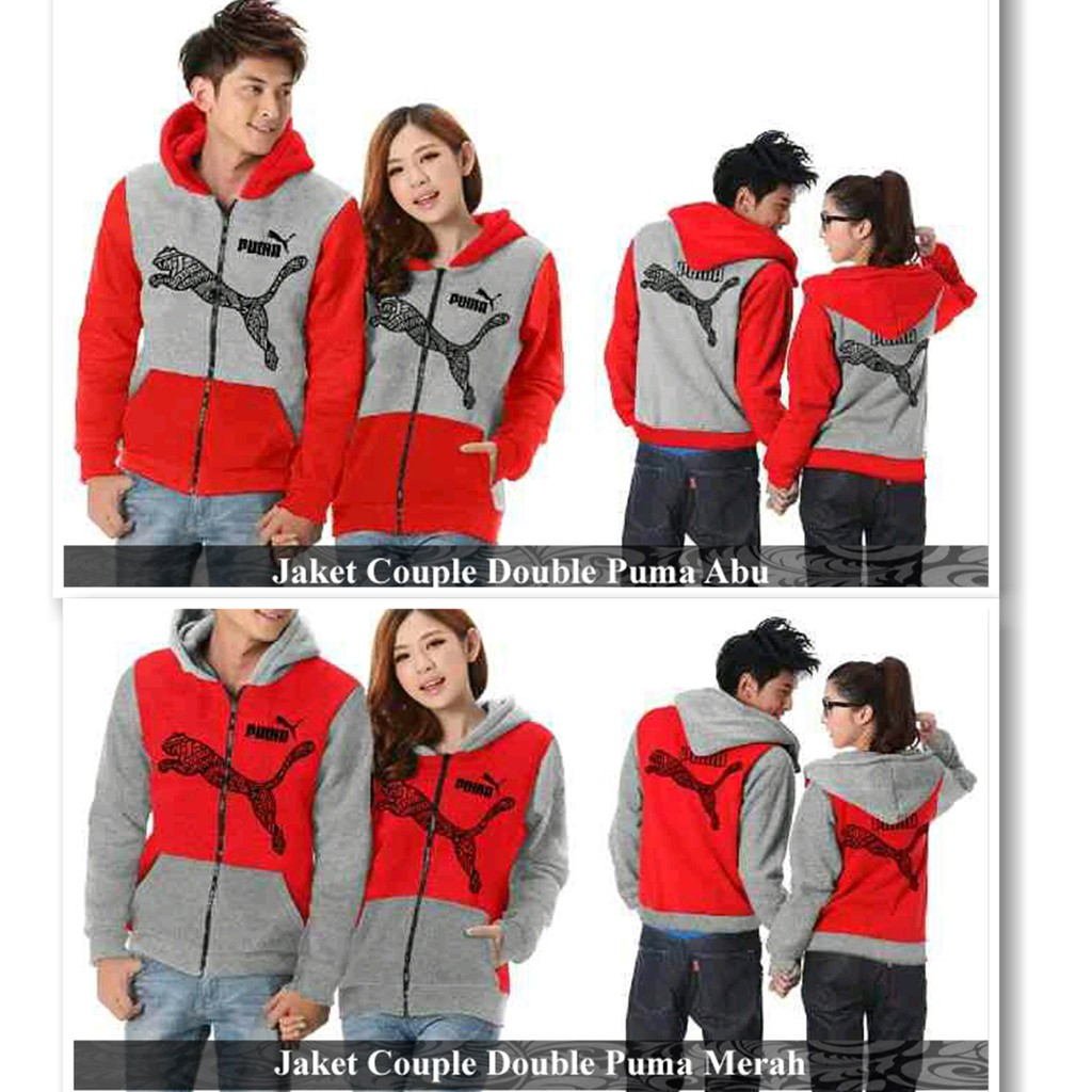 PUSAT JAKET COUPLE TERMURAH- jaket couple puma 2 model warna- COUPLE - Jaket  Couple Double Puma  32671a6845