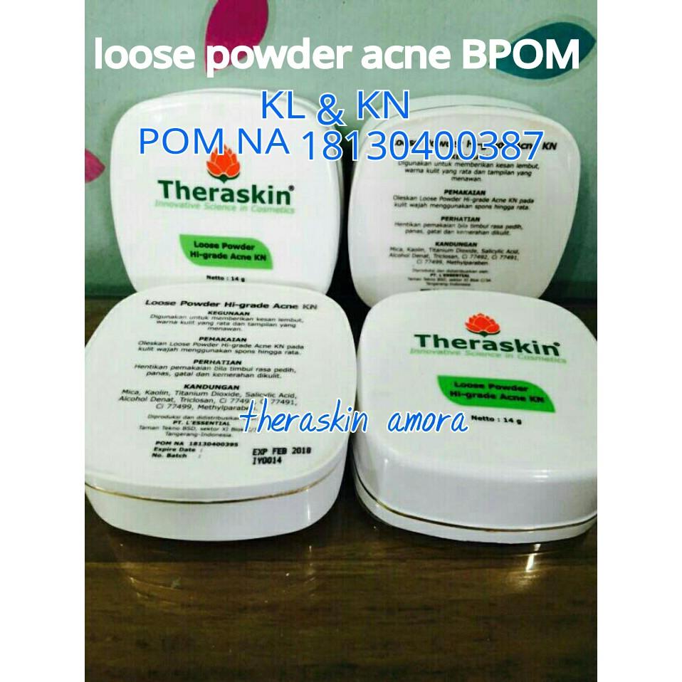 Loose Powder Acne Kn Shopee Indonesia Cream Amora Malam Eceran