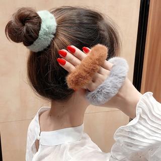 Ennwen Ik19 Ikat Rambut korea Ponytail Donat Pompom thumbnail