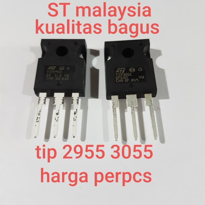 Tip3055 1pcs Tip 3055 St Malaysia Kw 1 Bagus Kw 1 Npn Shopee Indonesia
