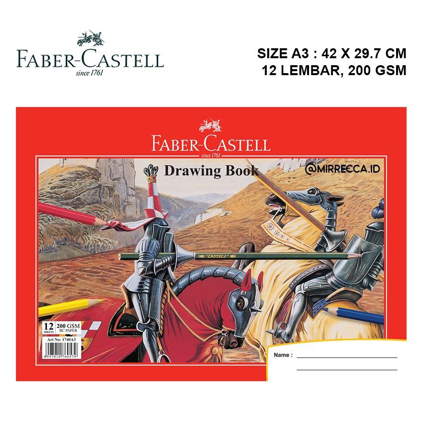 Buku Gambar A3 12 Lembar Faber Castell Drawing Book Kertas Lukis