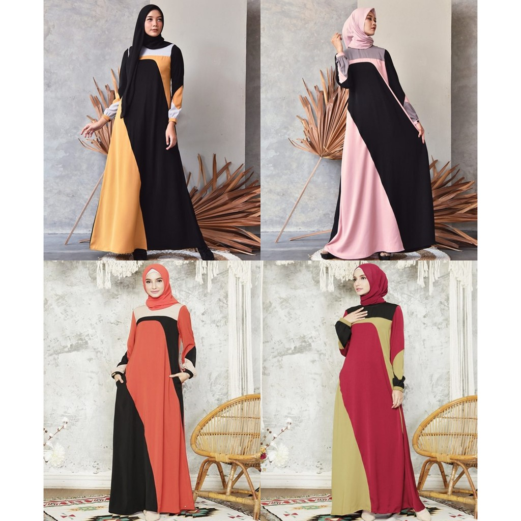 Kanaya Dress by Zalifa Exclusive Collection - Baju Muslim Wanita - Gamis