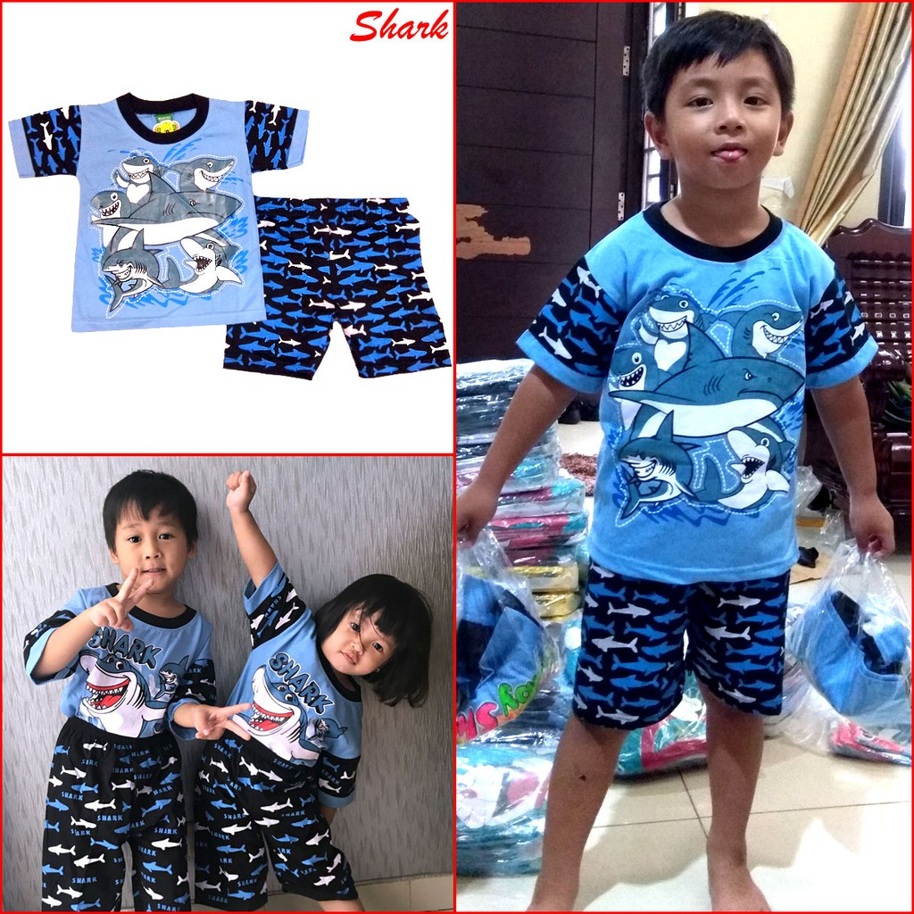 Promo Belanja Bajuanaklaki Online September 2018 Shopee Indonesia Macbear Kids Baju Anak Setelan Polo Little Dino Park Variasi Dasi Size 3 Biru