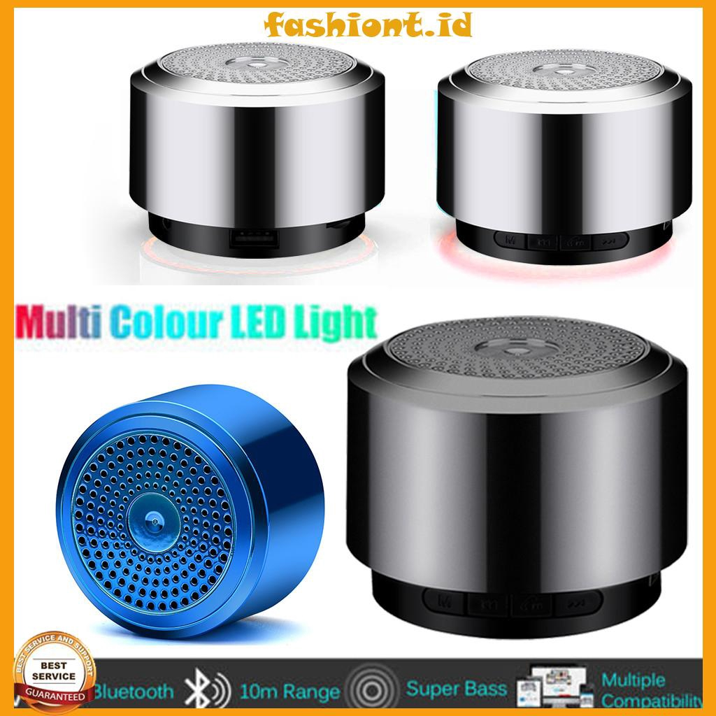 LED Mini Portable Wireless Speaker Colorful Light USB Music Sound Subwoofer Box