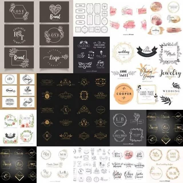 logo wedding vector untuk ornamen undangan keren shopee indonesia logo wedding vector untuk ornamen undangan keren