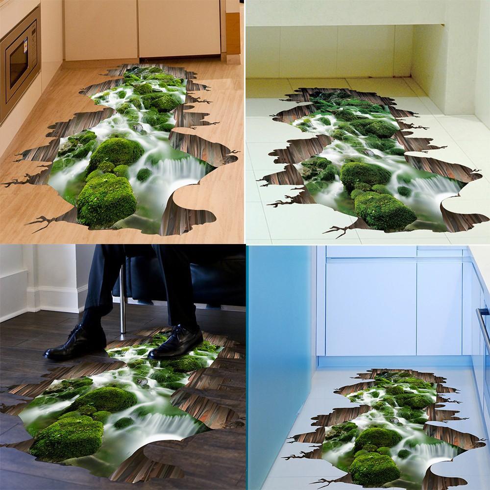 Wallpaper Lantai Model Stereoskopik 3D Untuk Lantai Kamar