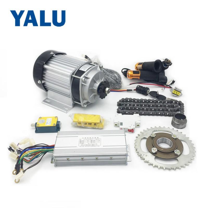 Motor Listrik 1KW 48V Dinamo Listrik 1000W 48V Motor BLDC Untuk Beban 1 Ton ATV Mini Jepp Gokart