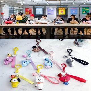 [Bayar Di Tempat]Kpop BTS BT21 TATA KOYA Keychain COOKY MANG Key Holder Chain Bag Pendant Keyring