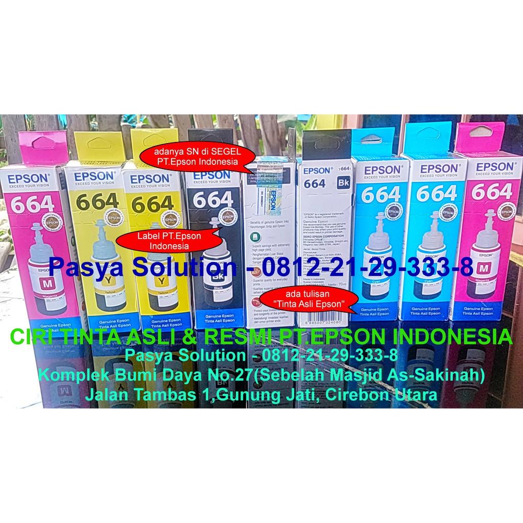 Tinta Epson L110 L210 L350 L800 L200 Black 1 Liter Refill T664 L Series L100 L120 Printer Murah Shopee Indonesia