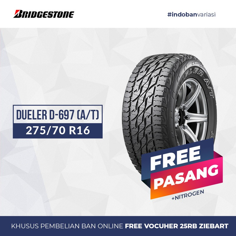 Ban Bridgestone DUELER D-697 (A/T) 275/70 R16 S