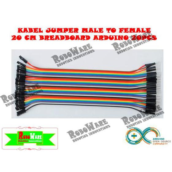 For Arduino. Source · 40 Baris Kabel Jumper Breadboard Projectboard 20Cm Female .