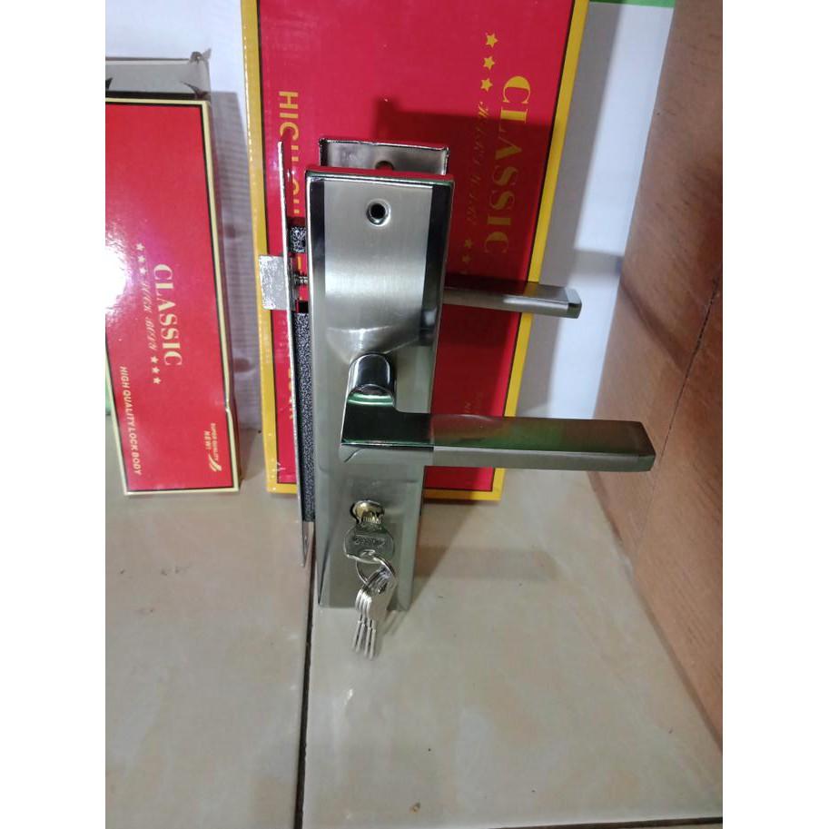 Jual Pull Handle Tarikan Pintu Utama Kunci Dobel Set Handel 2 Model Bulat Polos Diskon Shopee Indonesia