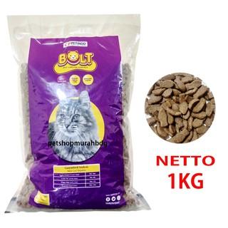 Makanan Kucing Bolt Ikan Tuna Bolt Repack 1kg Cat Food Tuna
