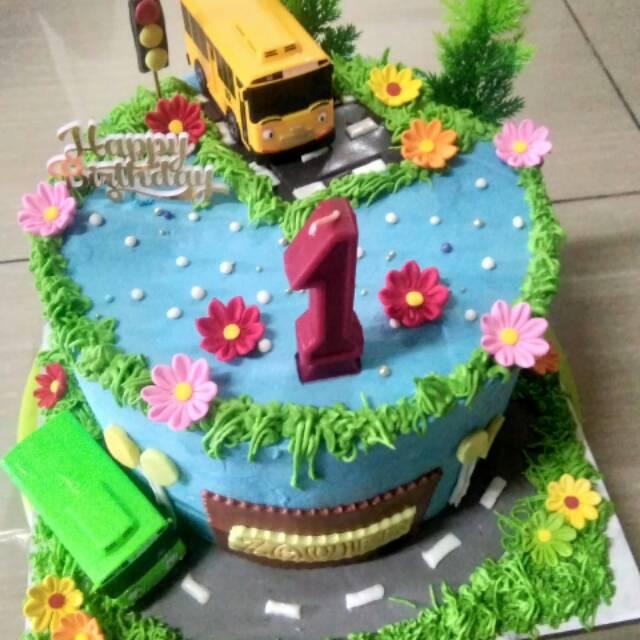 Kue Tart Karakter Tayo Shopee Indonesia