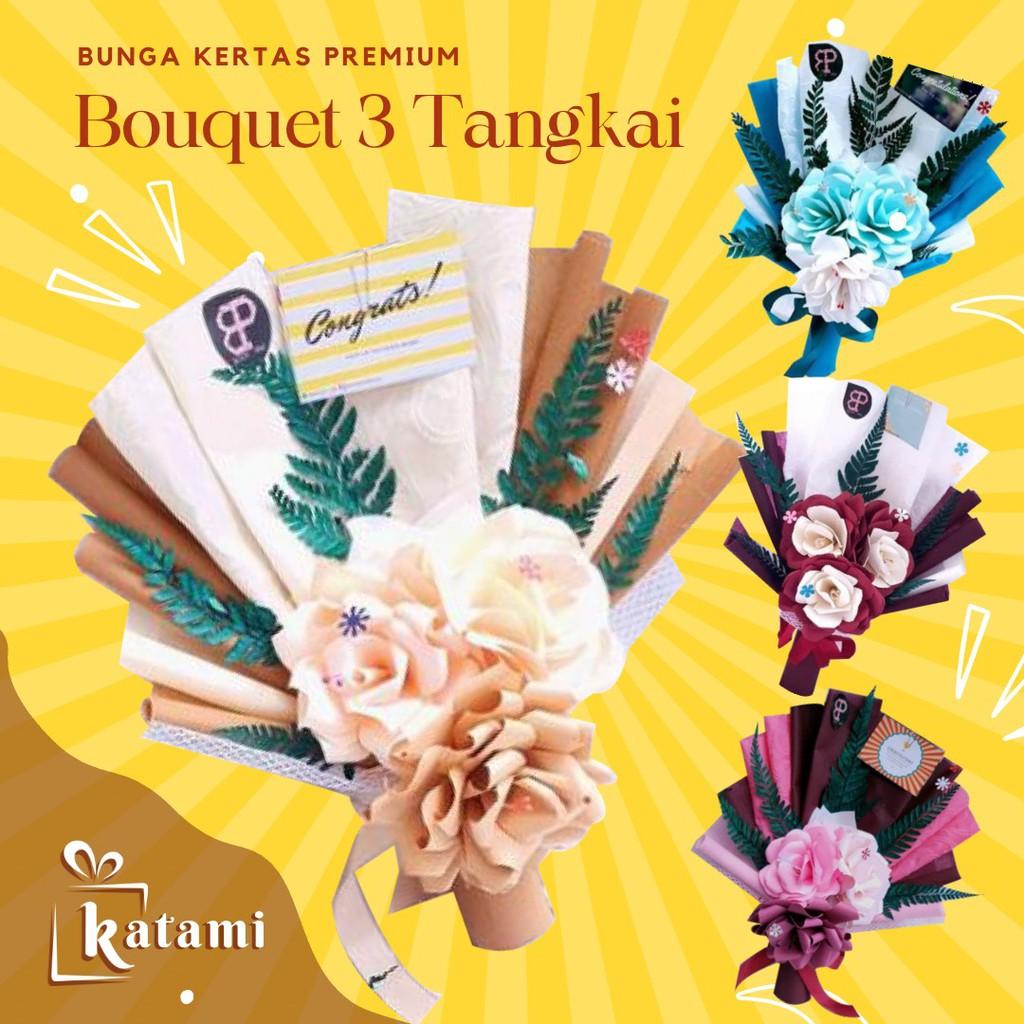 Buket Bunga Kertas Wisuda Murah CZ Flower Bouquet Hadiah Wedding Ulang Tahun Cowok Graduation 2021