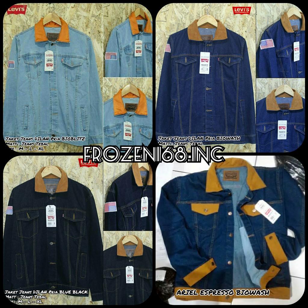 Lks212 Jaket Jeans Regular Fit Pria Dilan Bioblitz Shopee Indonesia Denim Bioblits