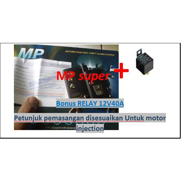 MP Two Way Alarm Motor Remote lengkap MP 2 Way Fitur Stater remot dan AutoLock |