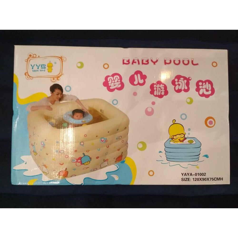 Intex 01002 Szdy Kolam Baby Spa Free Ban Leher Renang Swim Center See Through Round Pool 57489 Blue