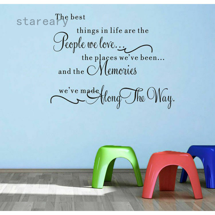 The Best Things In Life Quote Wall Stickers Bedroom Living Room Decal Newest Shopee Indonesia