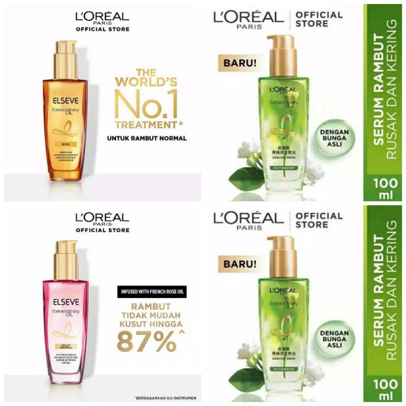 Loreal L Oreal Paris Elseve Elvive Extraordinary Oil Hair Serum Rambut 100 Ml Shopee Indonesia