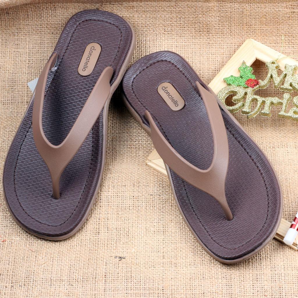 Ak810101 Coklat Sandal Nyaman Pria Original Donatello Simple 45LRAjq3