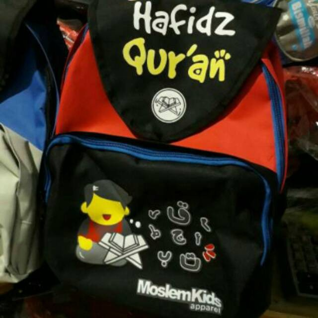 """... Moslem Kids Tas Ransel Anak """"Generasi Hafidz Qur'an"""" Untuk PAUD. Source · Muslim Kids Organizer / Tas Al Quran ."""