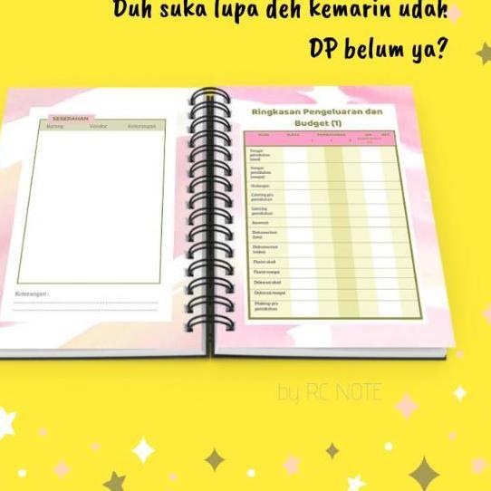 Bestseller Murah Spiral Softcover Wedding Planner Book Agenda Pernikahan Lengkap Cff5 Shopee Indonesia