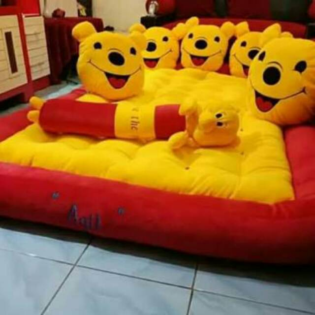Realpict Kasur Gender Winnie The Pooh Shopee Indonesia