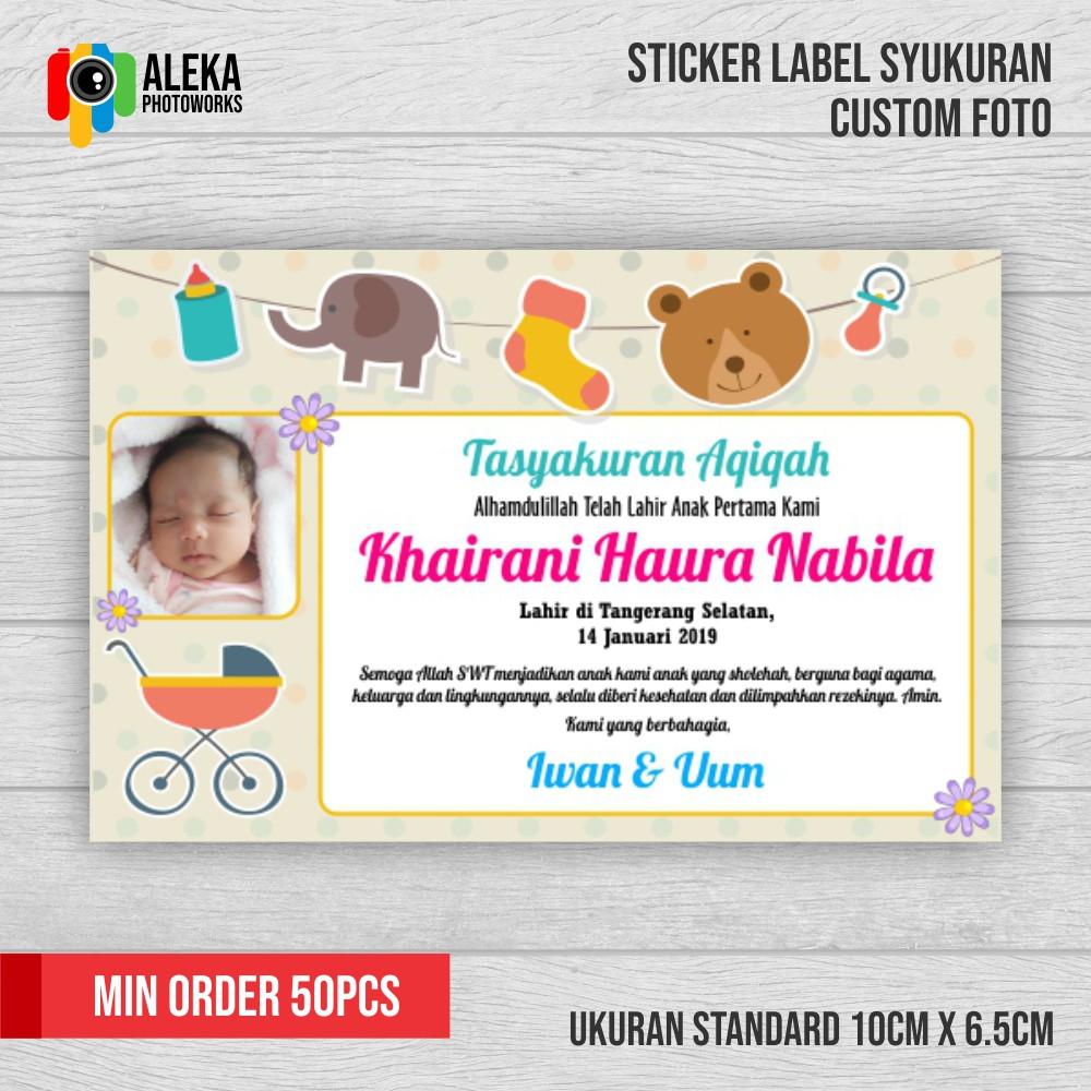 Newest For Contoh Stiker Buat Aqiqah