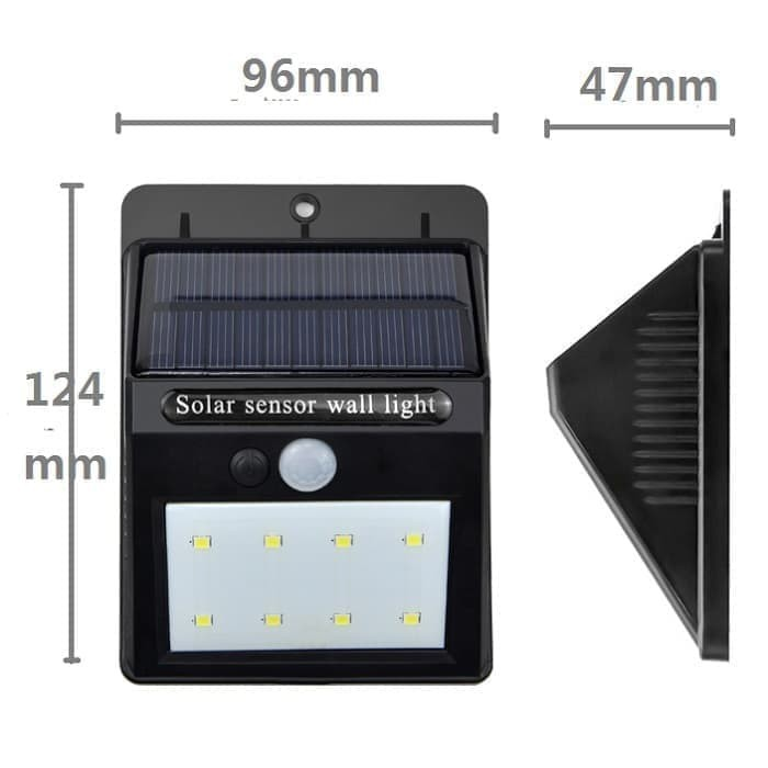 Lampu Taman Tenaga Surya System Sensor Dinding Solar Cell Panel 20 Led Aa Shopee Indonesia