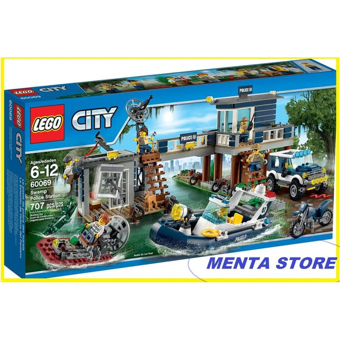 100 Original Lego City 60069 City Swamp Police Station Official Supplier Reseller Shopee Indonesia