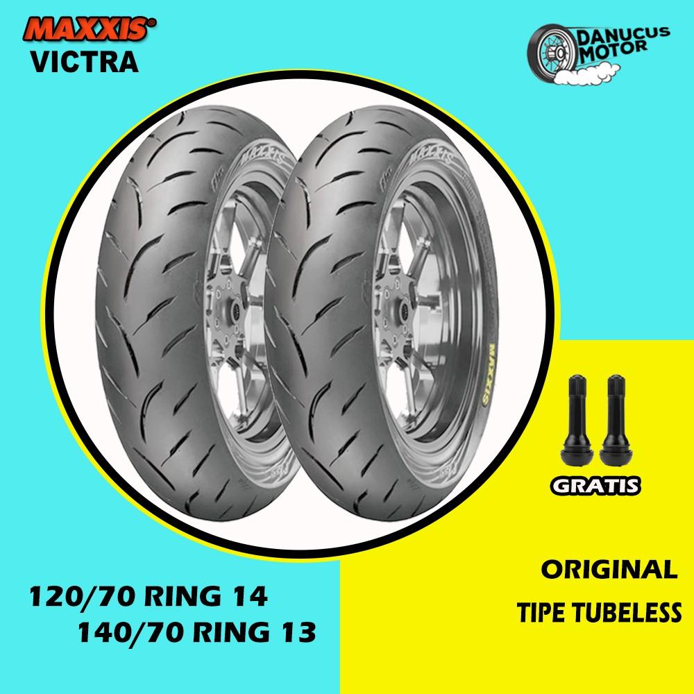 SEPAKET BAN TUBELESS MAXXIS VICTRA MOTOR HONDA ADV 120/70 Ring 14 - 140/70 Ring 13