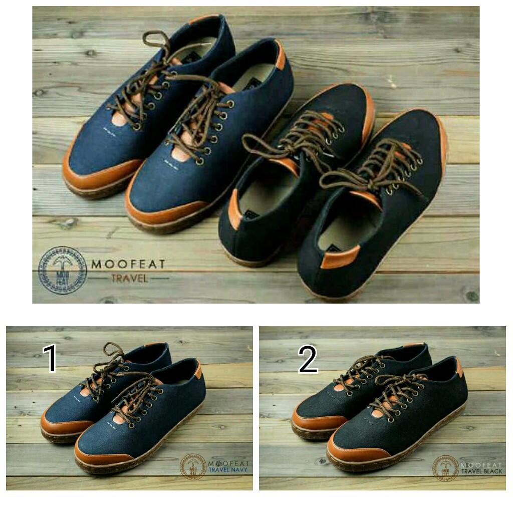 Sneakers Pria Murah Moofeat Travel Sepatu Casual Termurah Shopee Carlo Black Indonesia