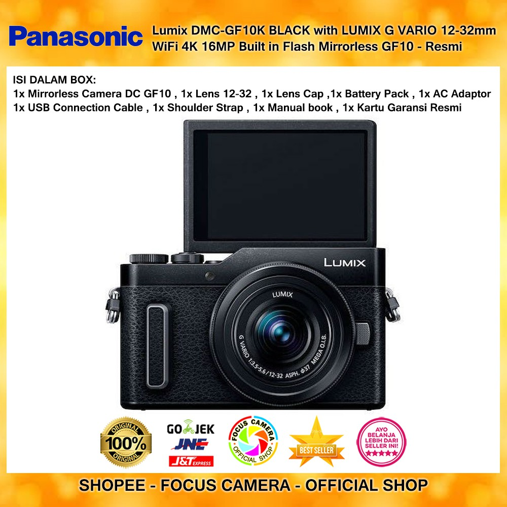 Panasonic Lumix Dmc Gx85k Kamera Mirrorless Gx85 Brown Kit 12 32mm Lensa Lens Wifi 4k 16mp Garansi Resmi Shopee Indonesia