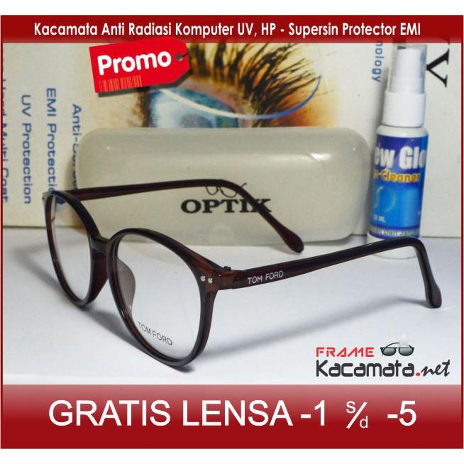 Frame kacamata iris + lensa minus plus silinder anti radiasi sinar uv aksesoris  wanita  5b2f1d52d9
