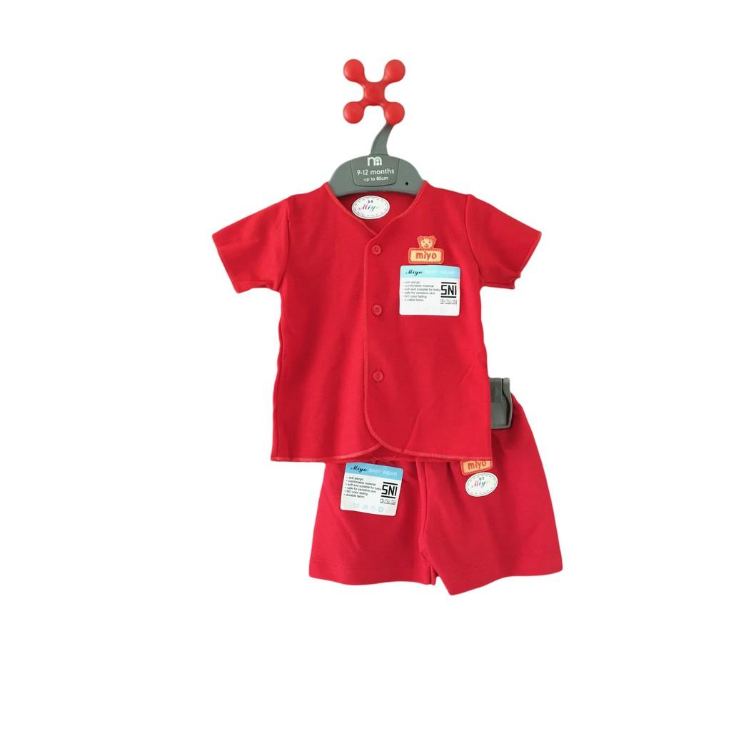 Setelan Baju Bayi Baby Anak Lengan Pendek Newborn Katun Laki Laki Dan Perempuan 6-12