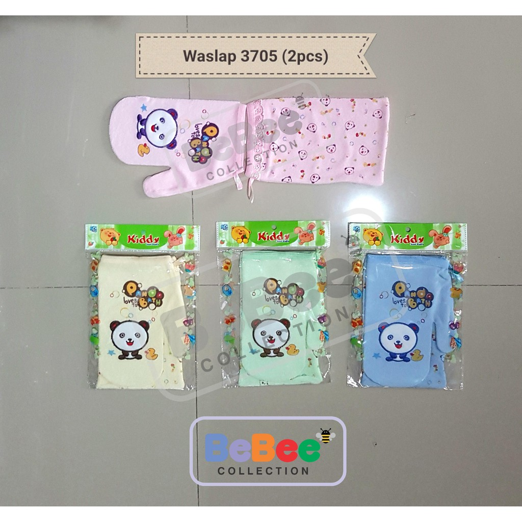 Kiddy Washlap Isi 2pcs Waslap Segi Dan Jari Shopee Indonesia Kotak