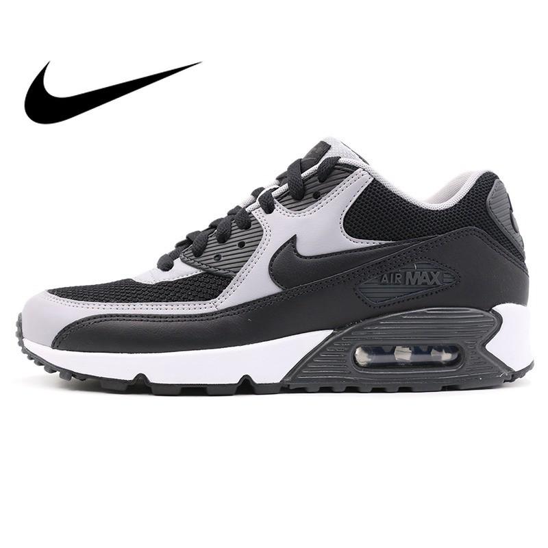 sneakers pria Original Authentic 2019 NIKE AIR MAX 90 ESSENTIAL Low Top Rubber Men's Running Shoes