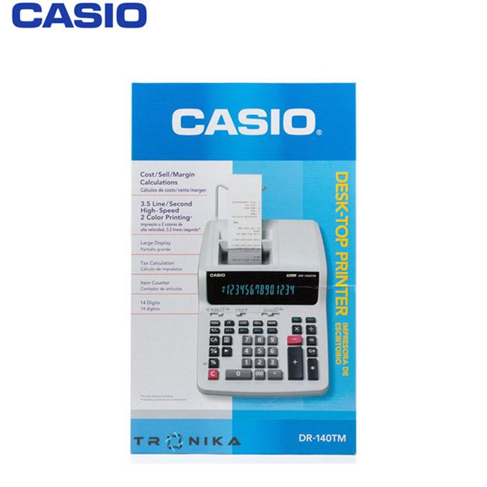 CALCULATOR PRINTING DR 140TM~kalkulator struke dengan pita#GARANSI&sale | Shopee Indonesia