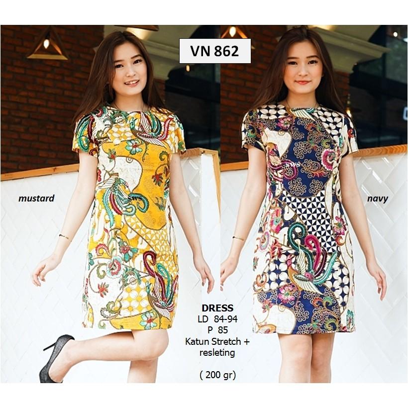 SEVN678 - baju atasan batik premium busui modern wanita etnik murah jumbo SALE   Shopee Indonesia