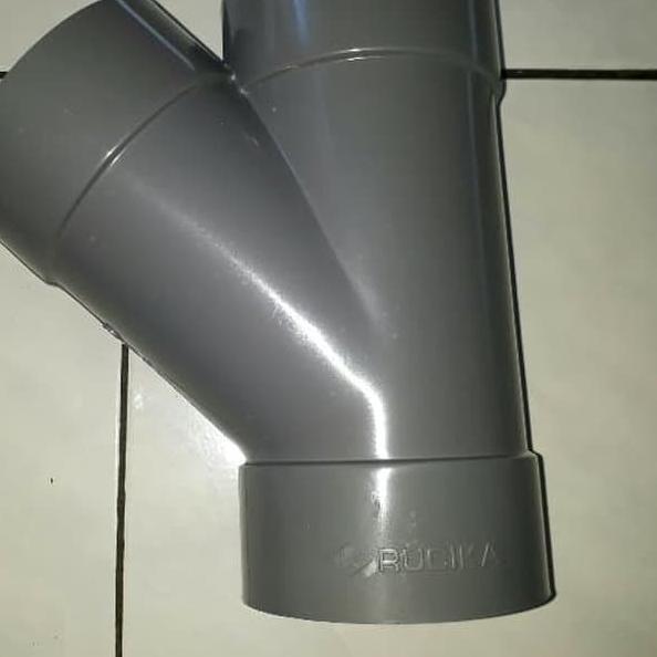 Ê– Fitting Sambungan Pipa Pvc Rucika Tee Y 45 D 4 X 3 Y Branch Dy I Shopee Indonesia