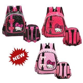 "PROMO"" NEW Hello Kitty Pita Cute Import Tas Ransel Anak Sekolah TK Atau PG - Pink Muda"