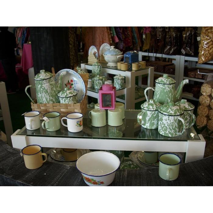 BETS QUALITY Gelas Mug Cangkir Enamel Seng Kaleng Blirik Blurik Jadul Vintage MURAH | Shopee Indonesia